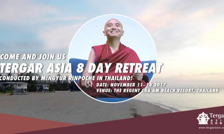 2017 Mingyur Rinpoche's Tergar Asia 8-Day Retreat<br>Announcement – second stage of enrolment