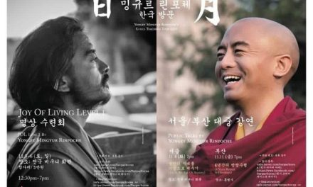 Yongey Mingyur Rinpoche Korea Teaching Tour 2016
