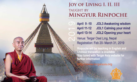 JOL Meditation Workshop – Essence Teaching with Venerable Yongey Mingyur Rinpoche 2019