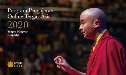 Program Pengajaran Online Tergar Asia 2020 dengan Yongey Mingyur Rinpoche